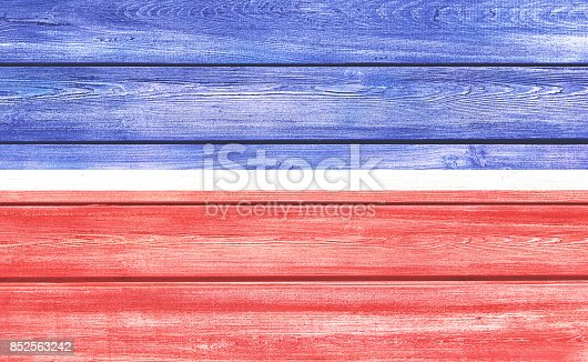 914589912 istock photo USA flag colors wood background 852563242