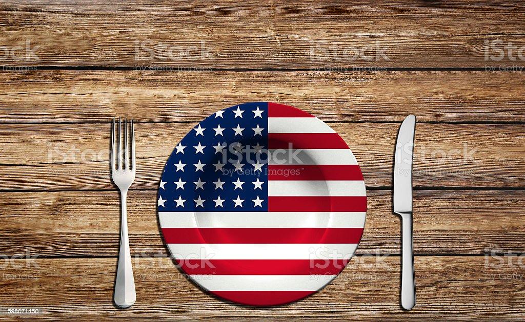 USA flag concept stock photo