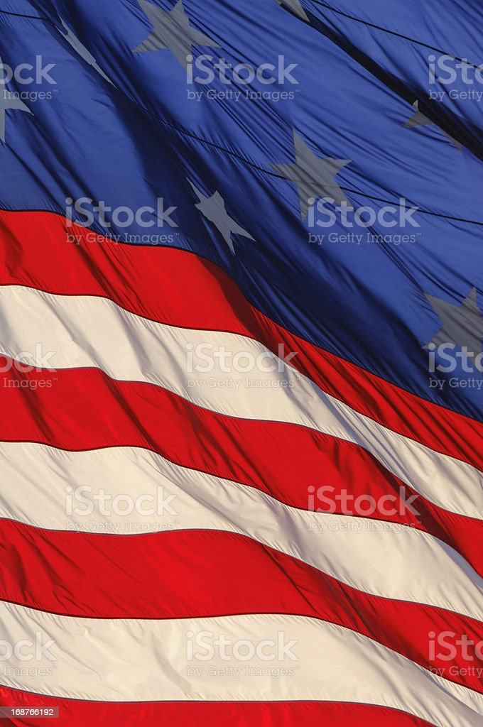 US Flag Detail stock photo