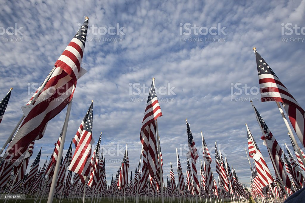 Flag display stock photo