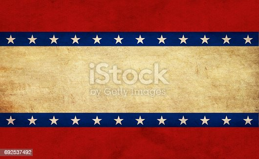 914589912istockphoto USA flag elements on old paper 692537492