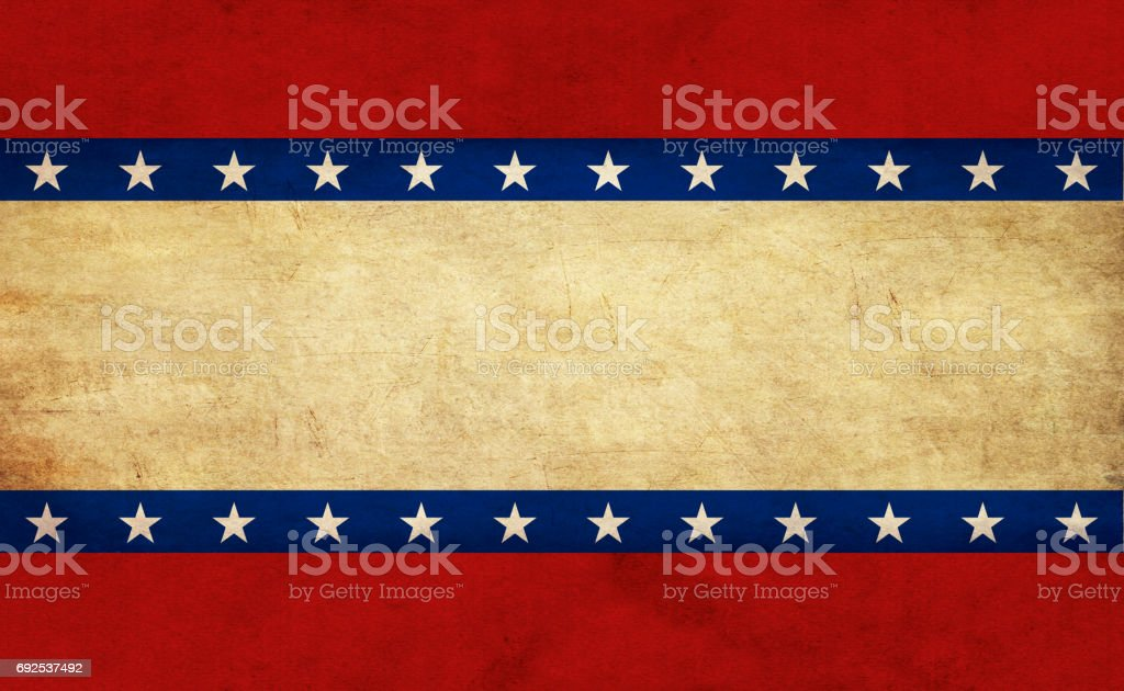 USA flag elements on old paper stock photo