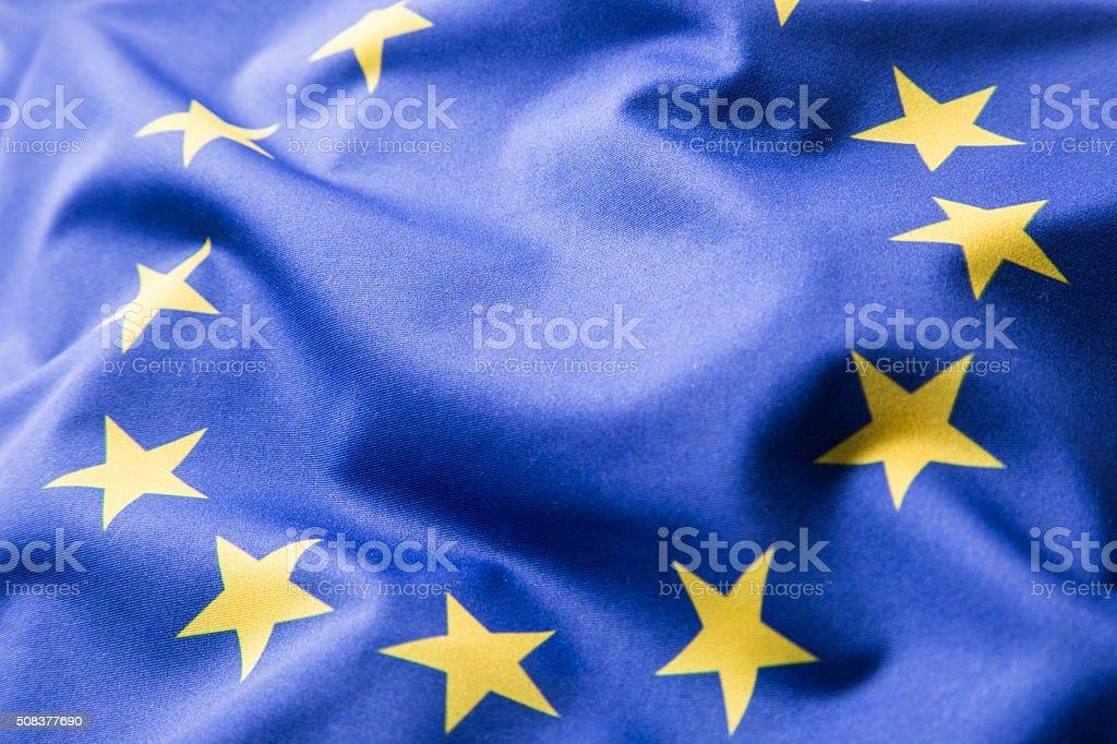 EU Flag. Euro Flag. Flag of European Union stock photo