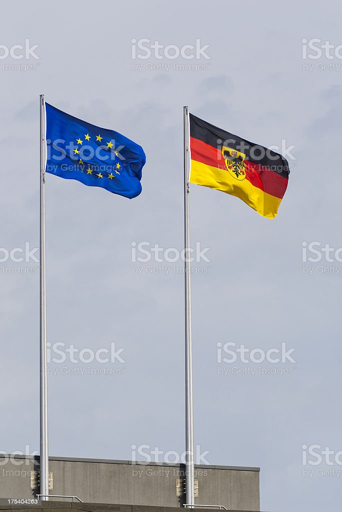 Flag - Europe and Germany stock photo