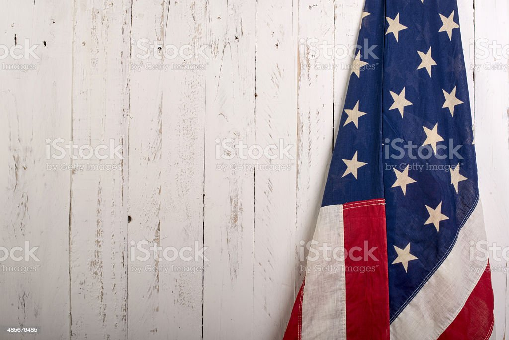 Flag f the United States of America stock photo