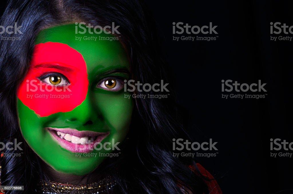 Flagge Gesicht Bangladesch – Foto