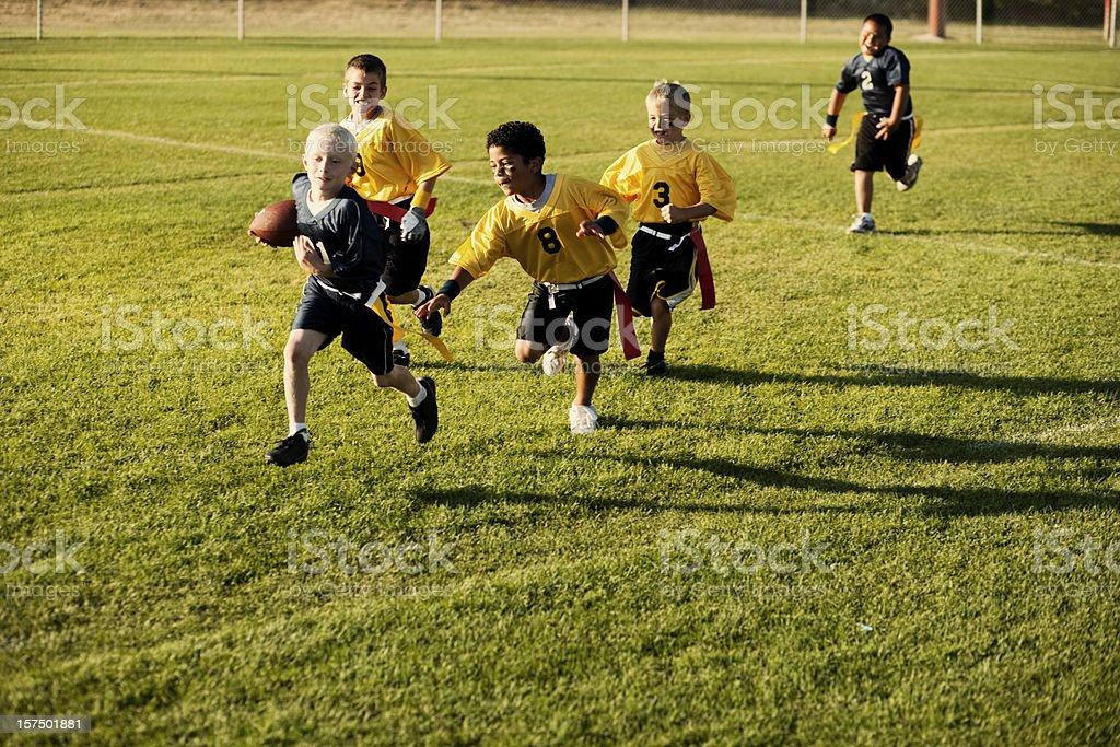 Flag Football Action stock photo