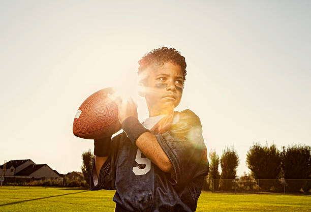 Flag Football Quarterback stock photo