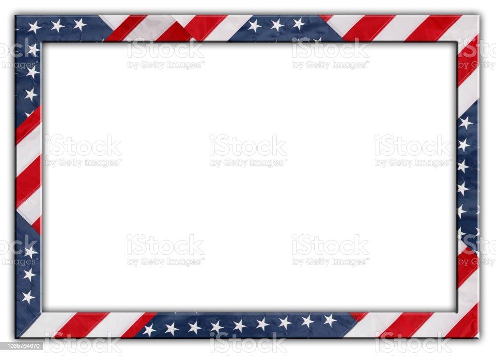 USA Flagge Rahmen – Foto