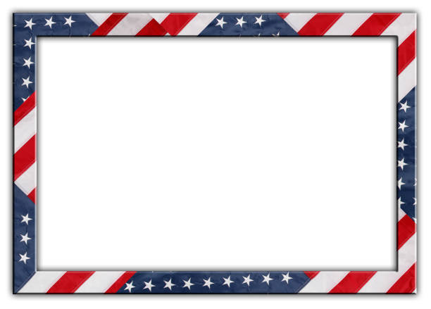 USA flag frame stock photo
