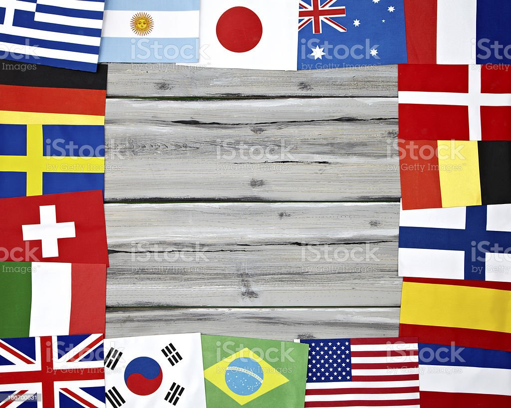 Flag Frame royalty-free stock photo