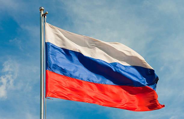 flag from russia - rusya stok fotoğraflar ve resimler