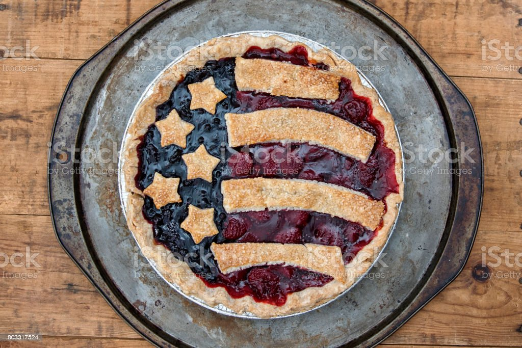 Flag Fruit Tart stock photo