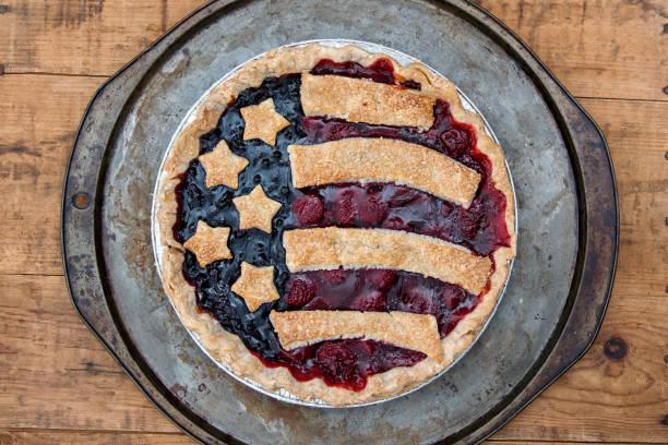 Flag Fruit Tart stock photo