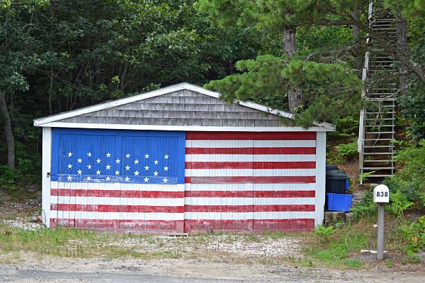 Flag Garage stock photo