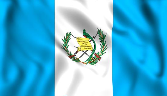 istock flag Guatemala waving in the wind 979407882
