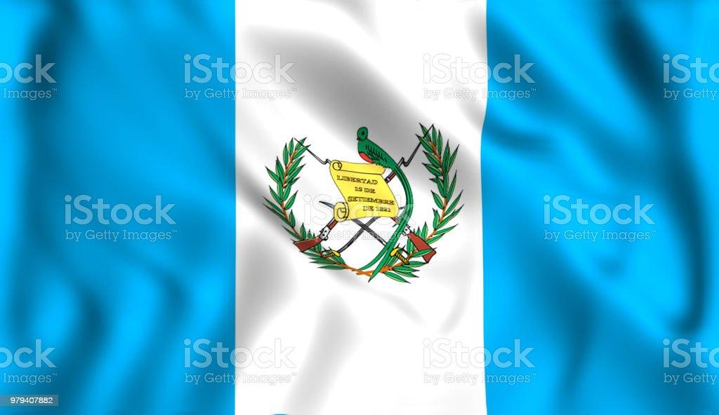 Bandera Guatemala ondeando en el viento - foto de stock