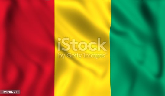 istock Flag guinea waving in the wind 979407712