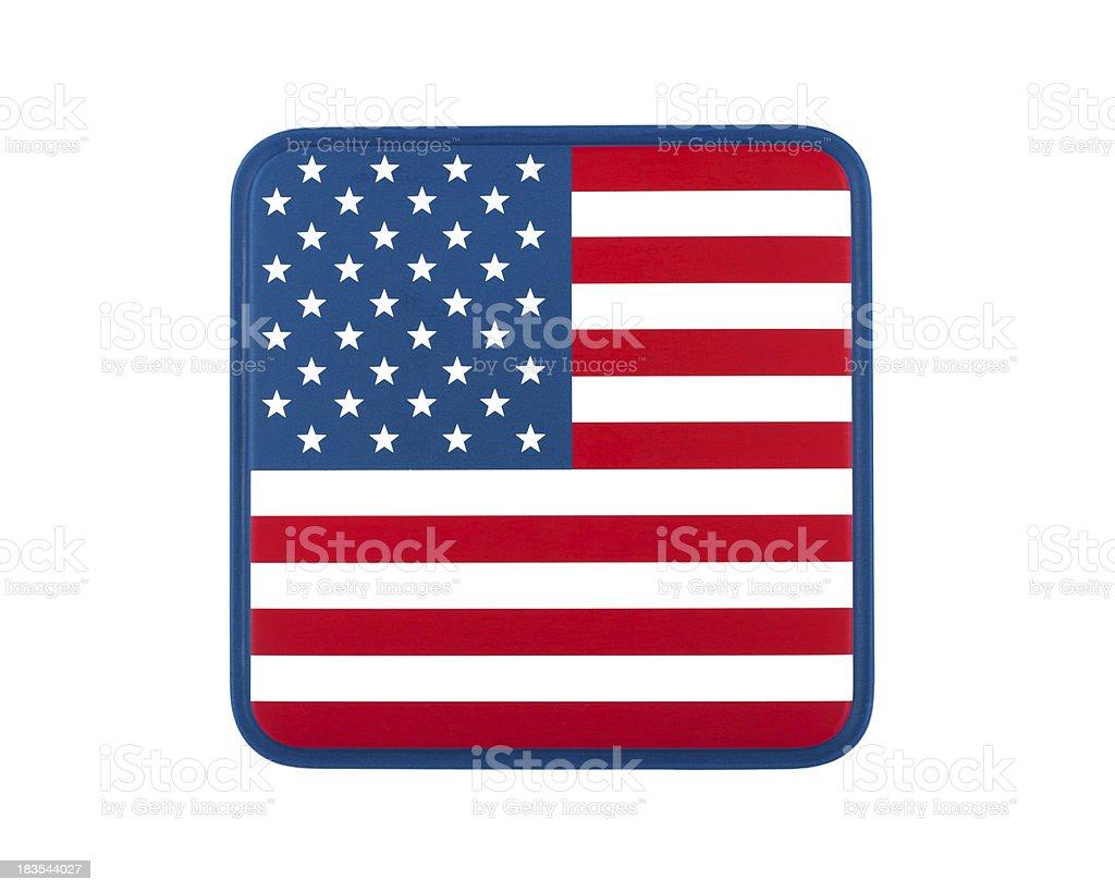 US flag icon stock photo