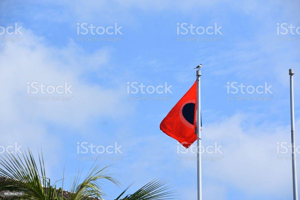 flag in Grand Turk bahamas stock photo