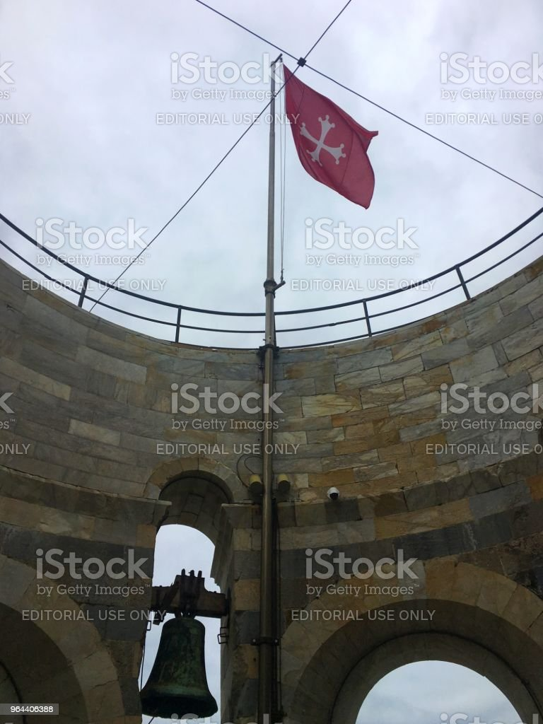 Flag in the old tower - Royalty-free Architecture Stock Photo