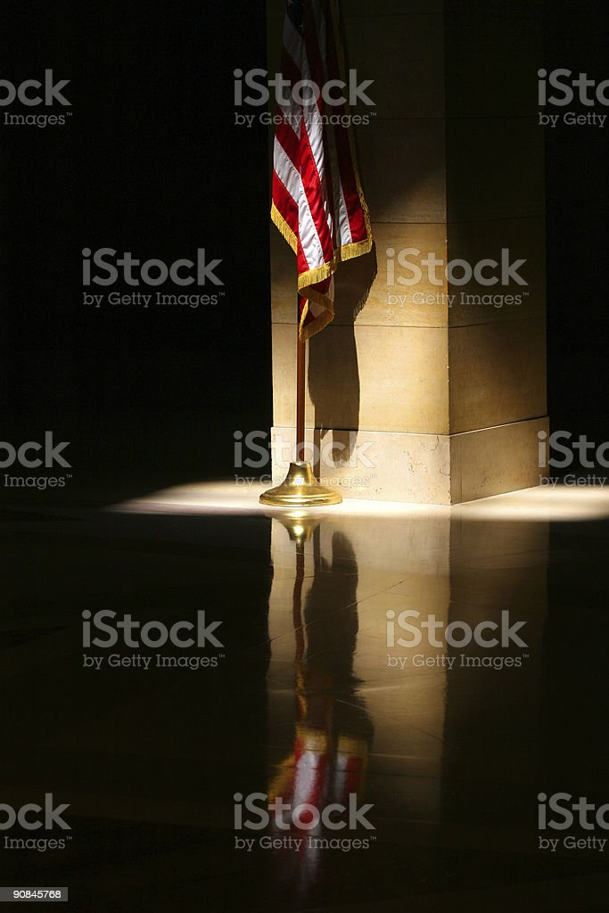 Flag in the Rotunda stock photo