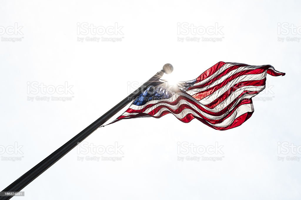 Flag in the white stock photo