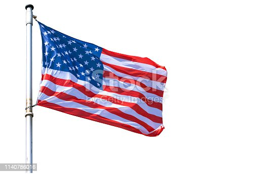 USA Flag isolated on white Background a high resolution Picture for Designers Ideas