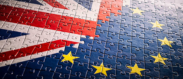 uk eu flag jigsaw puzzle - xxxxl backgrounds european undion - brexit stockfoto's en -beelden