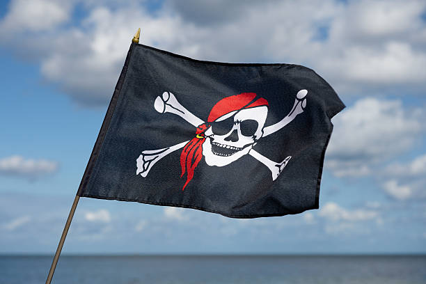 Bandera Jolly Roger - foto de stock