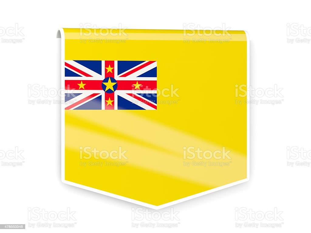 Flag label of niue stock photo