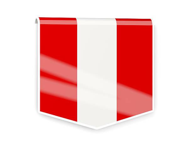 Bandera etiqueta de Perú - foto de stock
