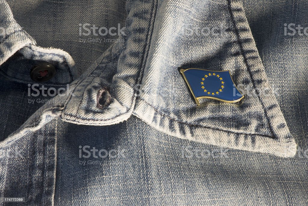 Flag label pin. royalty-free stock photo