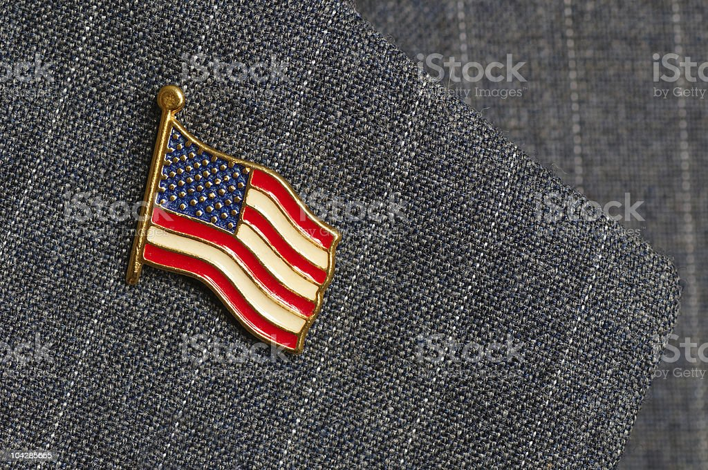 Flag lapel pin stock photo