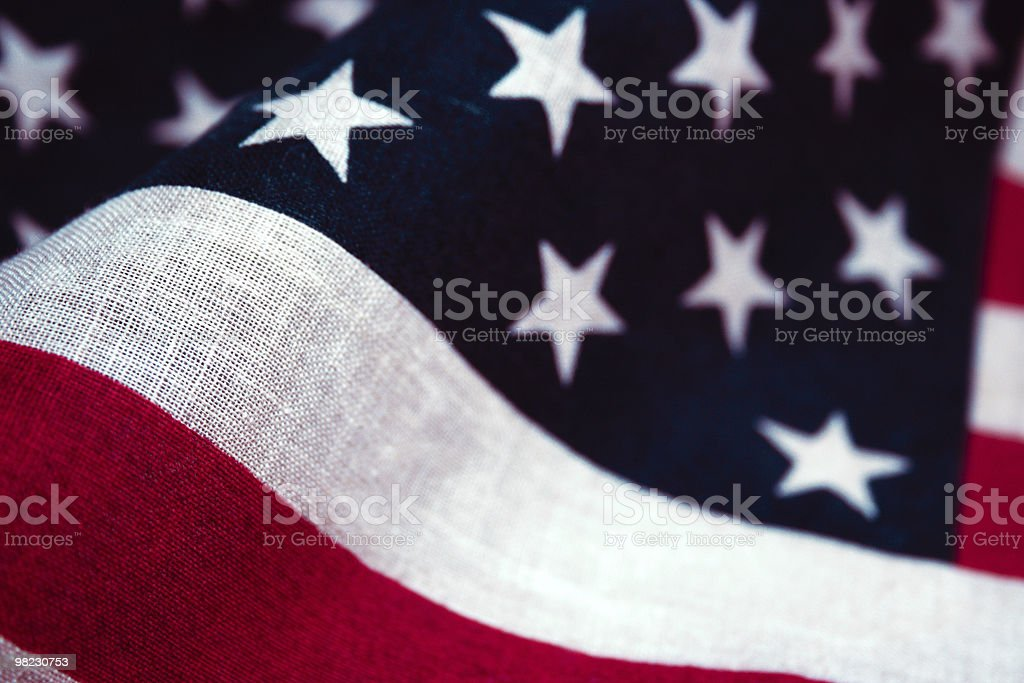 US Flag macro stock photo