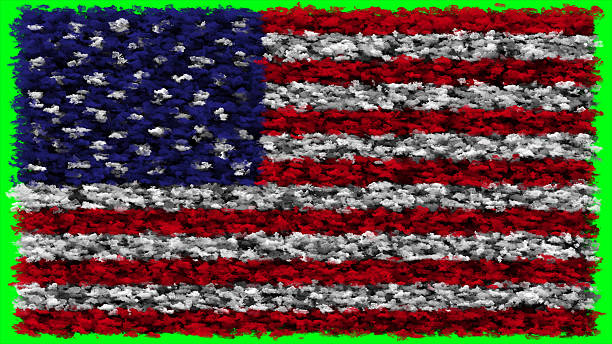 usa flag made from clouds - green screen background stock photos and pictures