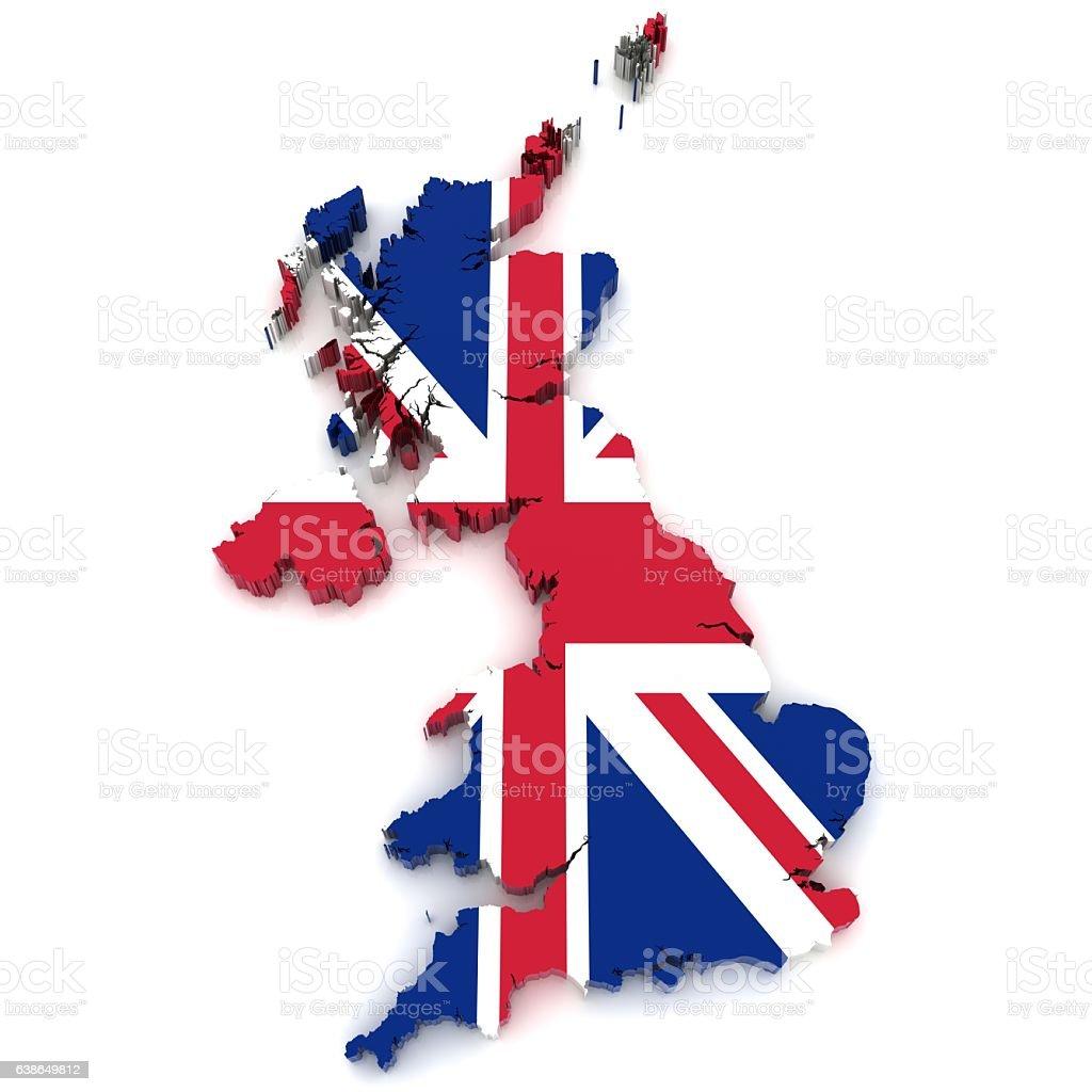 UK flag map stock photo