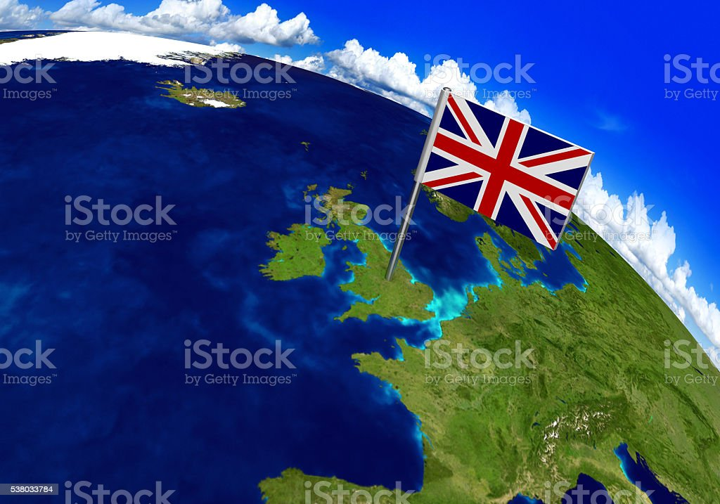Flag Marker Over Country Of United Kingdom On World Map ... on russia on world map, philippines on world map, saudi arabia on world map, indonesia on world map, great britain on world map, europe map, spain on world map, cyprus on world map, malaysia on world map, solomon islands on world map, germany on world map, brazil on world map, china on world map, london united kingdom map, sweden on world map, india on world map, france on world map, italy on world map, belgium on world map, netherlands on world map,