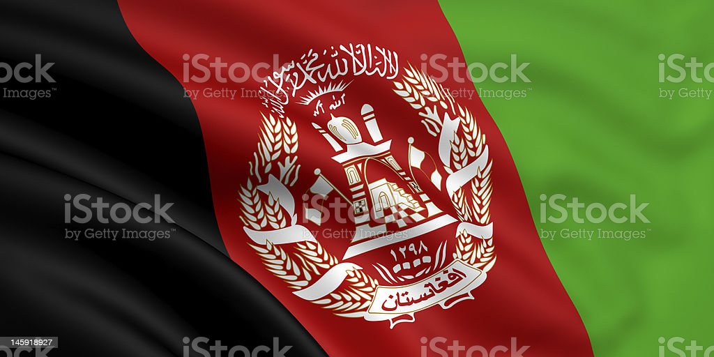 Flag Of Afghanistan royalty-free stock photo
