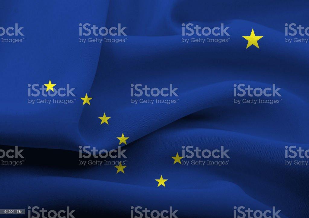 Bandera de los E.E.U.U. de Alaska - foto de stock