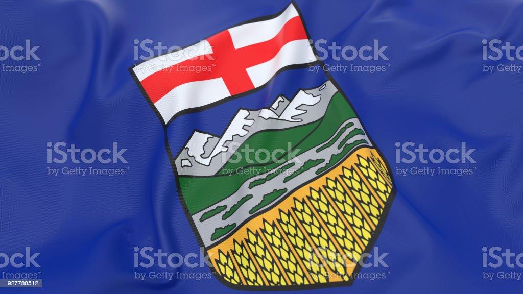 Flag of Alberta - Canada stock photo