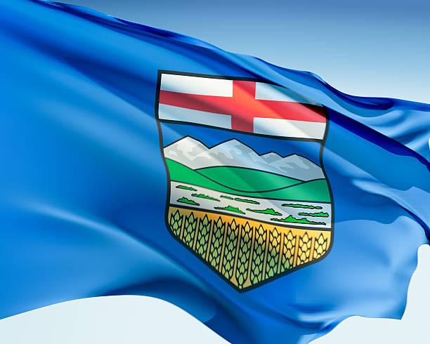 Flag of Alberta stock photo