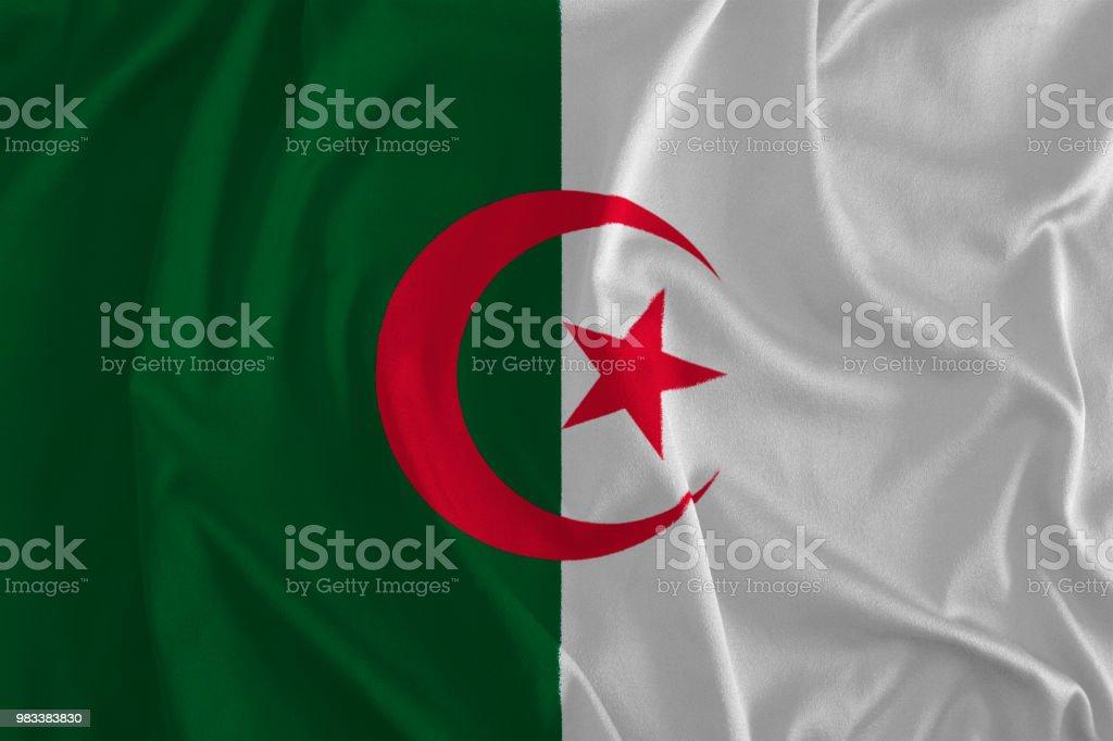 Bandera de Argelia fondo - foto de stock