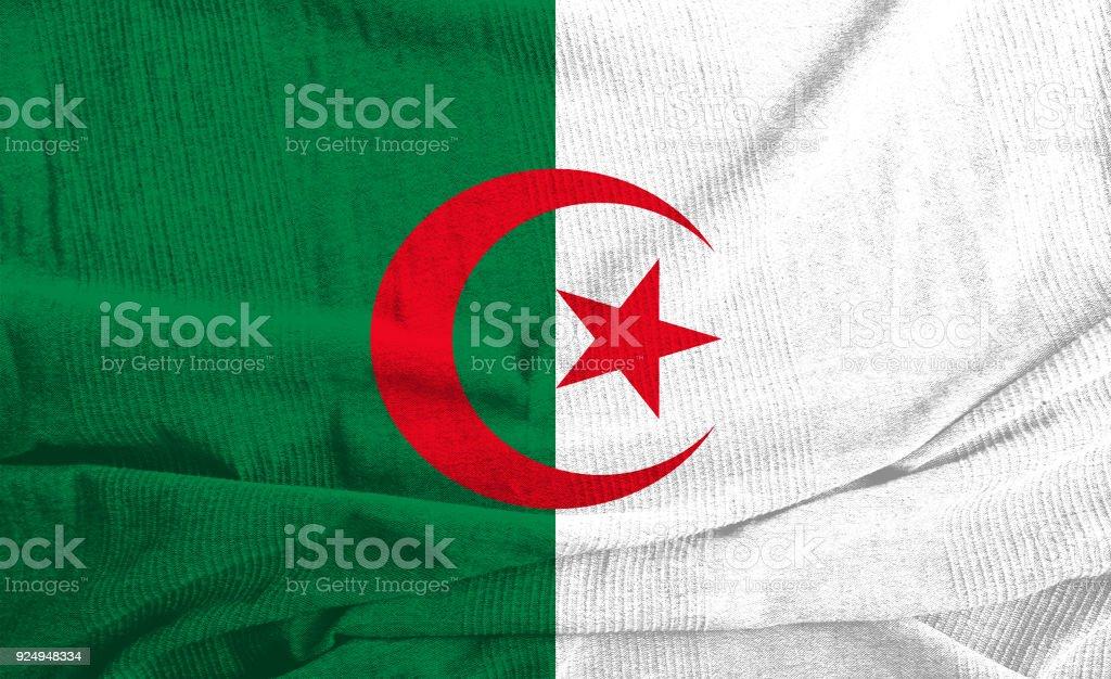 Bandera de Argelia  - foto de stock