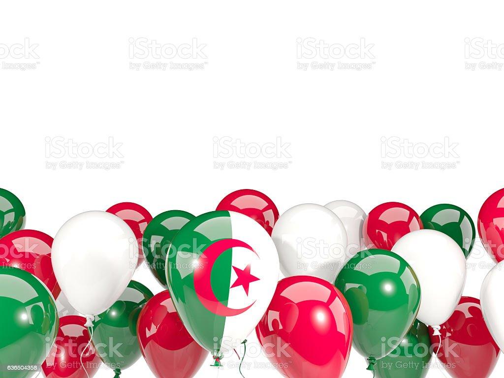 Flag of algeria with balloons - foto de stock
