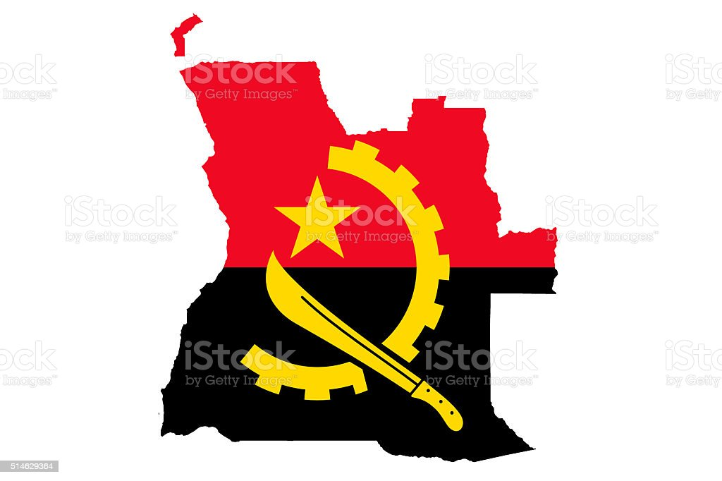Flag of Angola stock photo