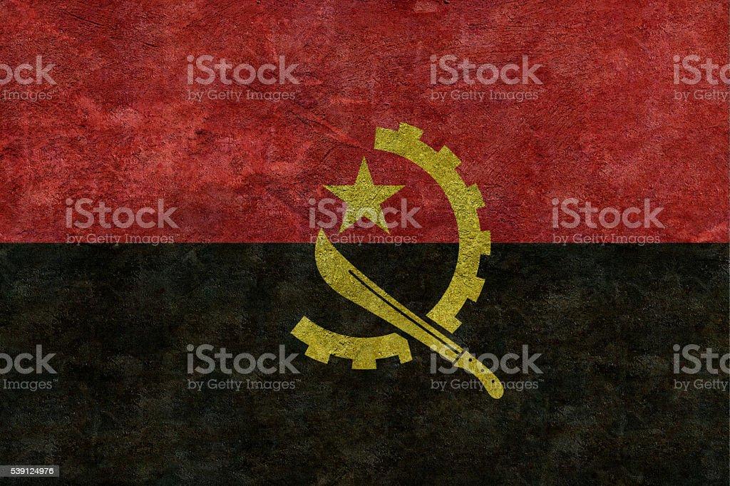 Flag of Angola stock photo