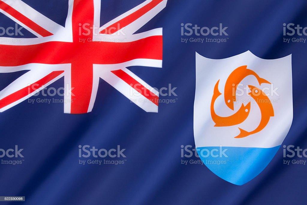 Flag of Anguilla stock photo