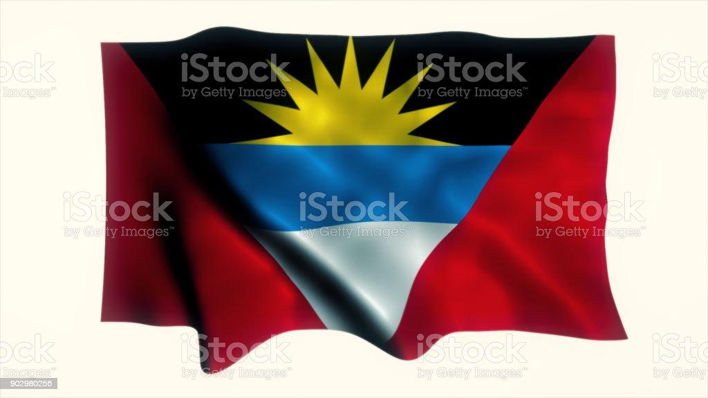 Flag of Antigua and Barbuda stock photo