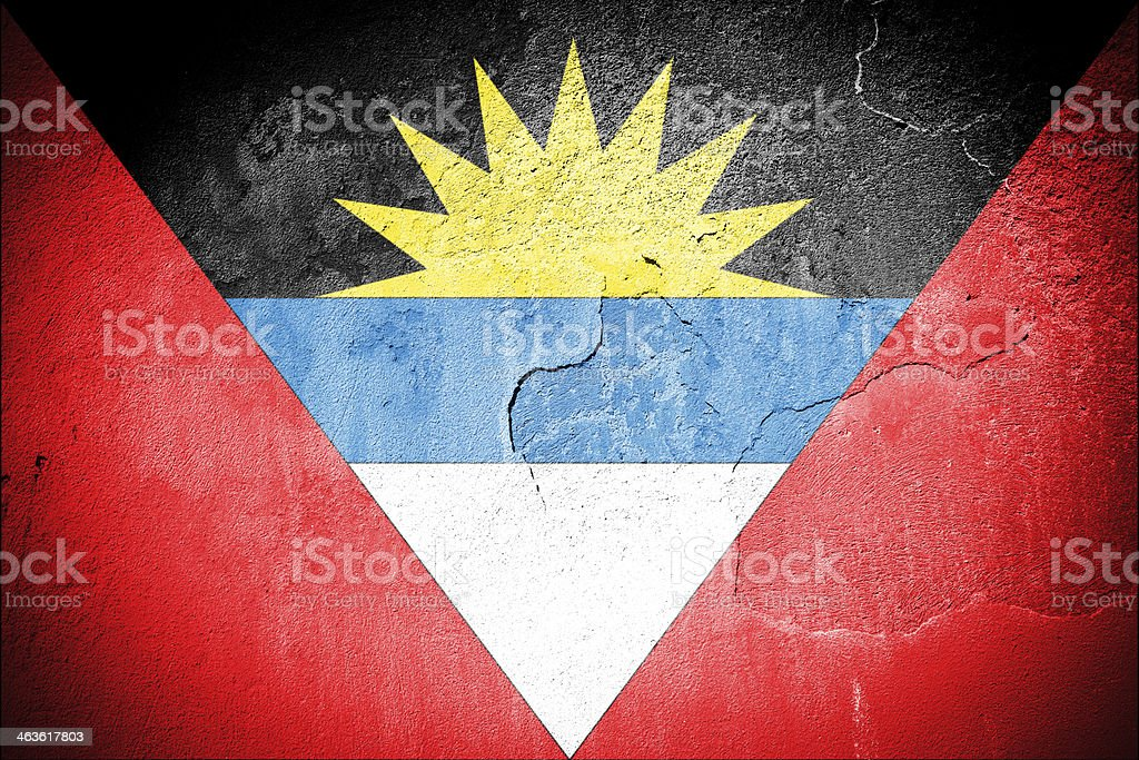 Flag of Antigua & Barbuda royalty-free stock photo